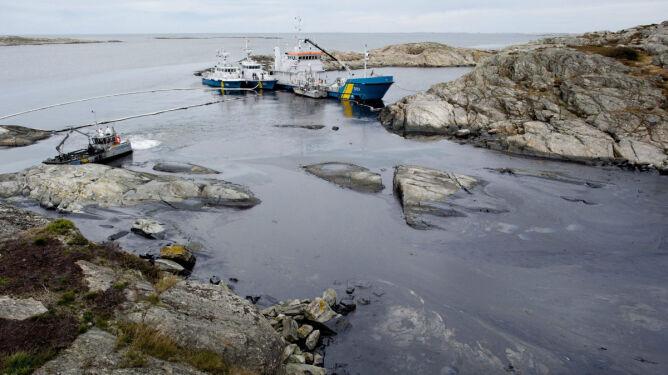 Plama oleju u wybrzeży Szwecji