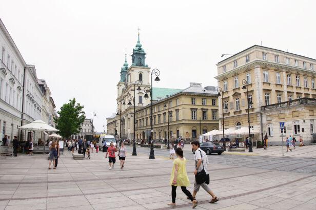 Krakowskie Przedmieście zamknięte dla ruchu kołowego Maciej Wężyk / tvnwarszawa.pl