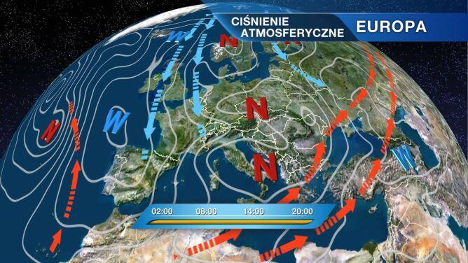 Niż wpływa na pogodę w Polsce. Zapewnia wilgotne powietrze i niekorzystny biomet