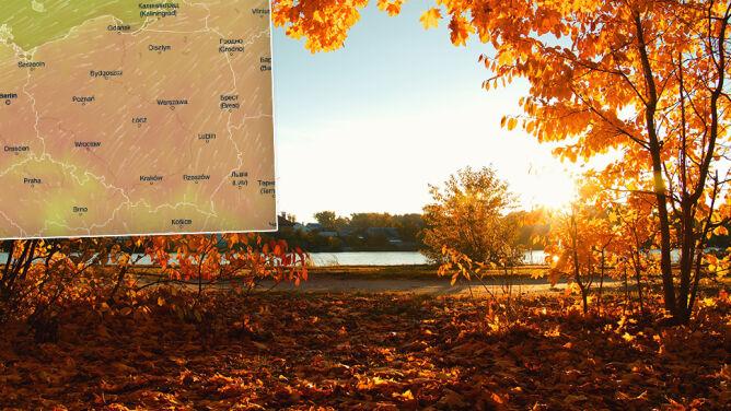 Lato w październiku. <br />Dużo słońca i nawet 25 stopni