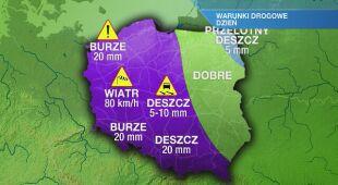 Warunki drogowe w poniedziałek 17.05